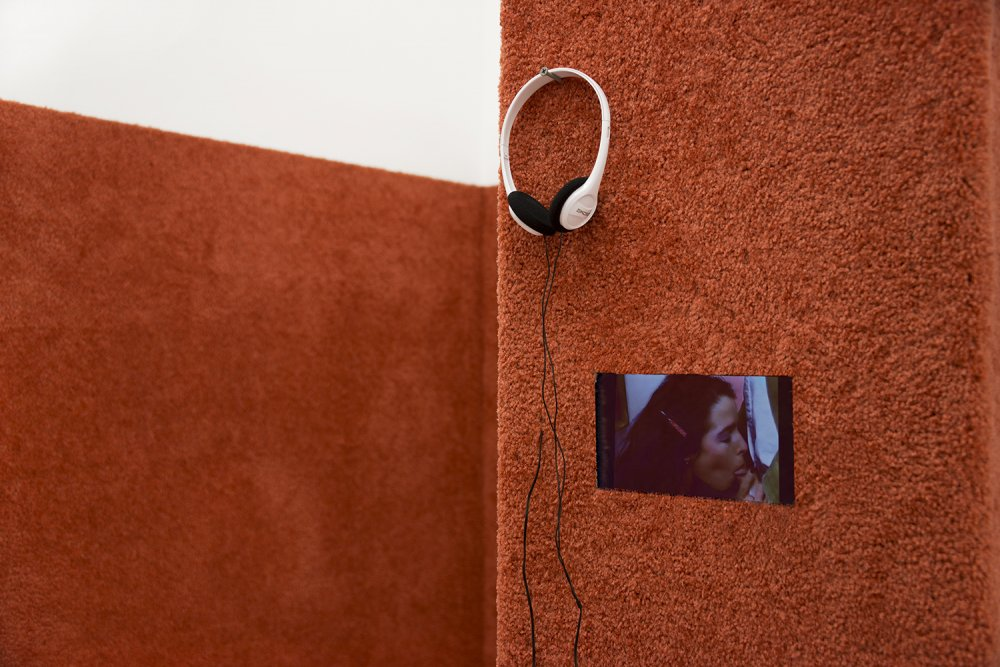 Ann Hirsch, 'Horny Lil, video' (2015). Install view. Courtesy Smart Objects, Los Angeles.