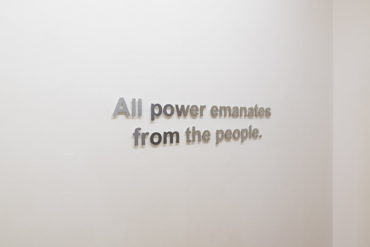 Emily Jones, 'All power emanates from the people' (2015) Install view. Photo by Stefan Lux. Courtesy ANDREAS HUBER